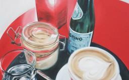 Stilleben mit Cappuccino