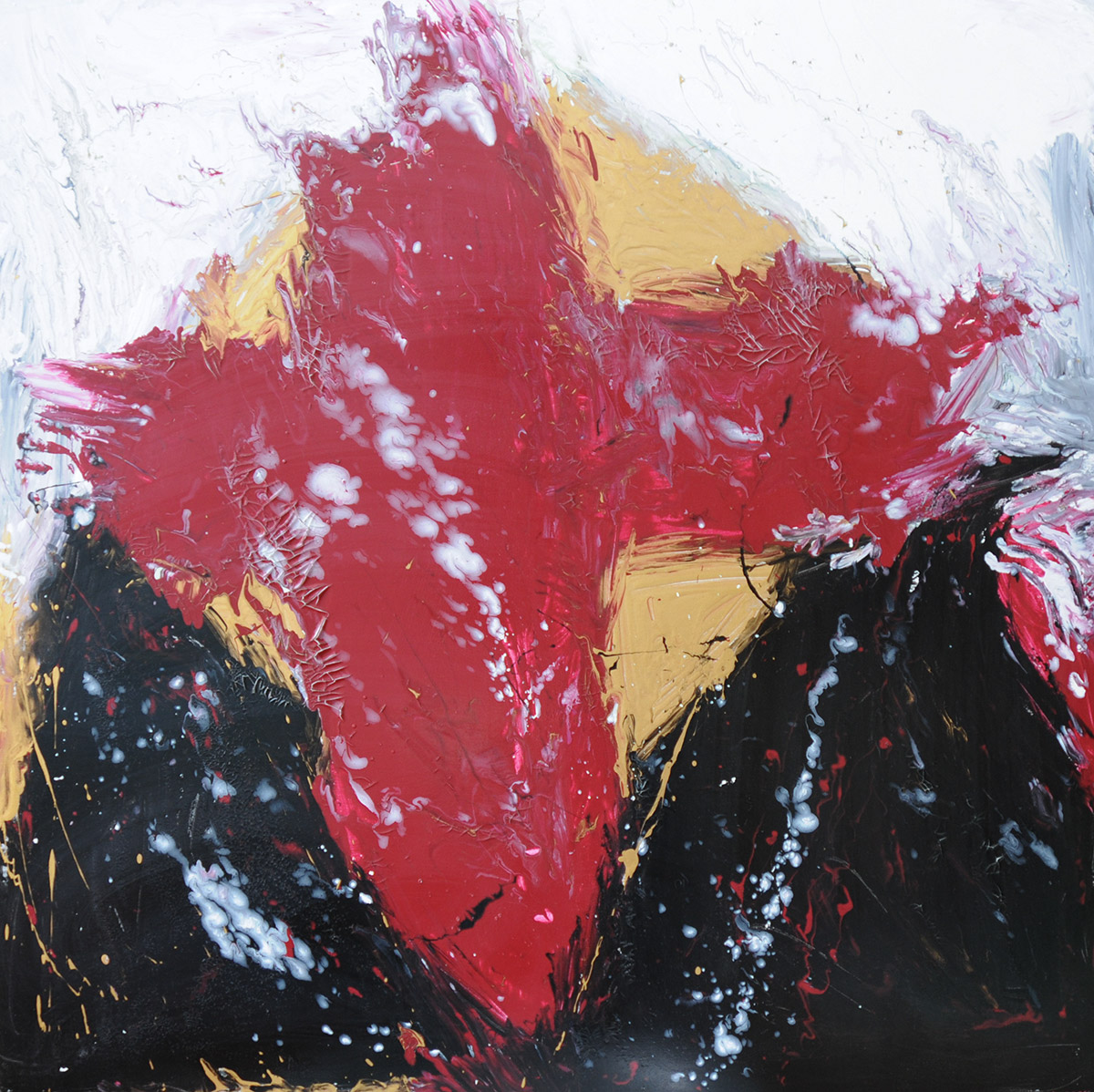 Dunkelrotes Kreuz