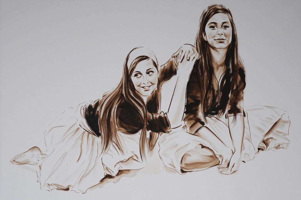 Lachende-Freundinnen